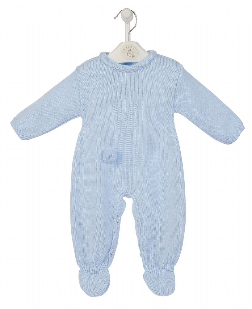 A2981B Bobtail Bunny Knitted Onesie